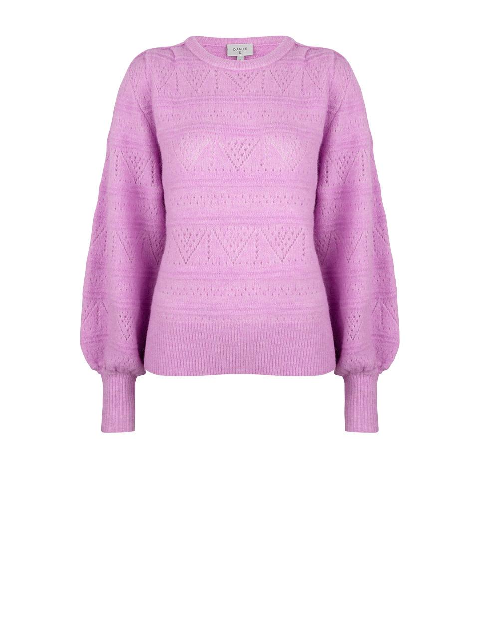 Valana ajour sweater pastel Pink-1