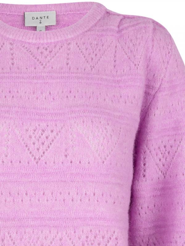 Valana ajour sweater pastel Pink-4