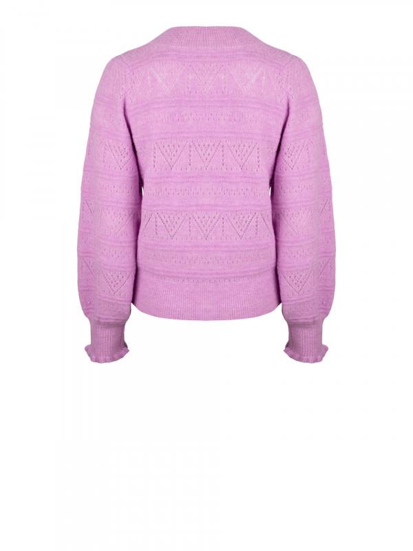 Kaileen  ajour cardigan pastel Pink-2