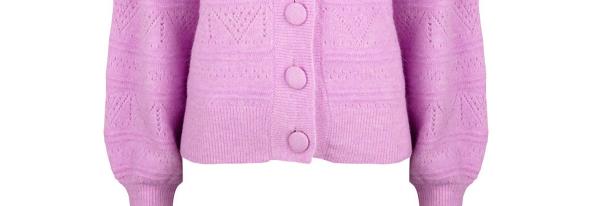 Kaileen  ajour cardigan pastel Pink