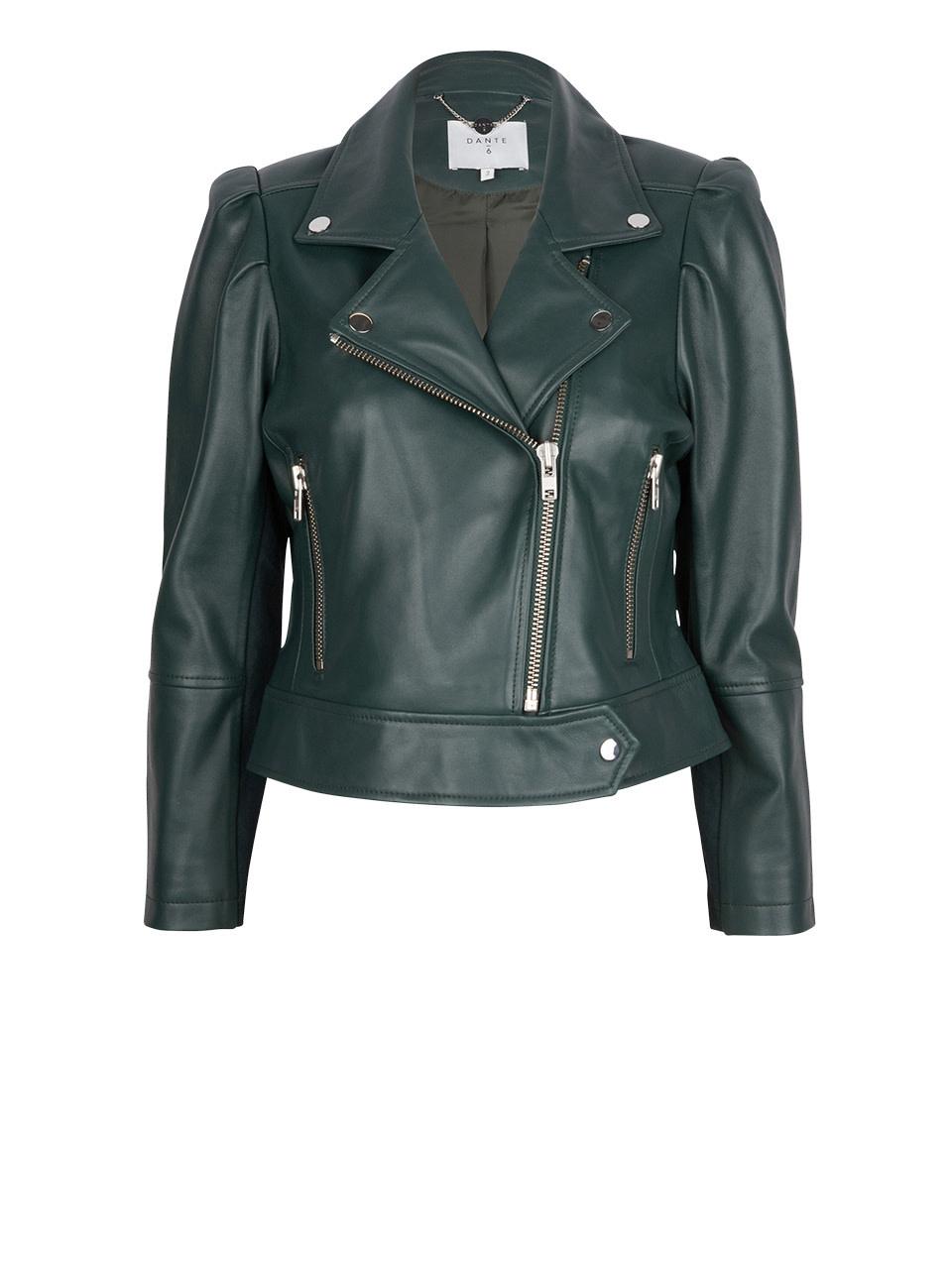 Jae Leather Jacket oil green-1