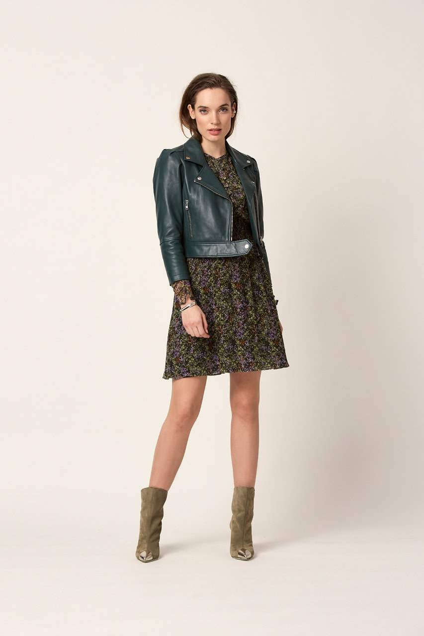 Jae Leather Jacket oil green-2