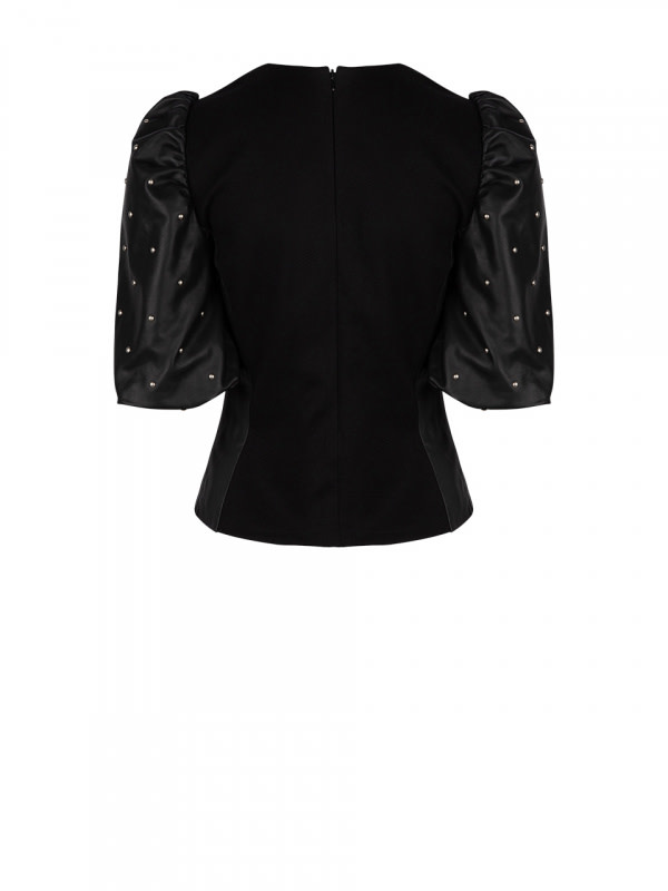 Eclate leather top-2