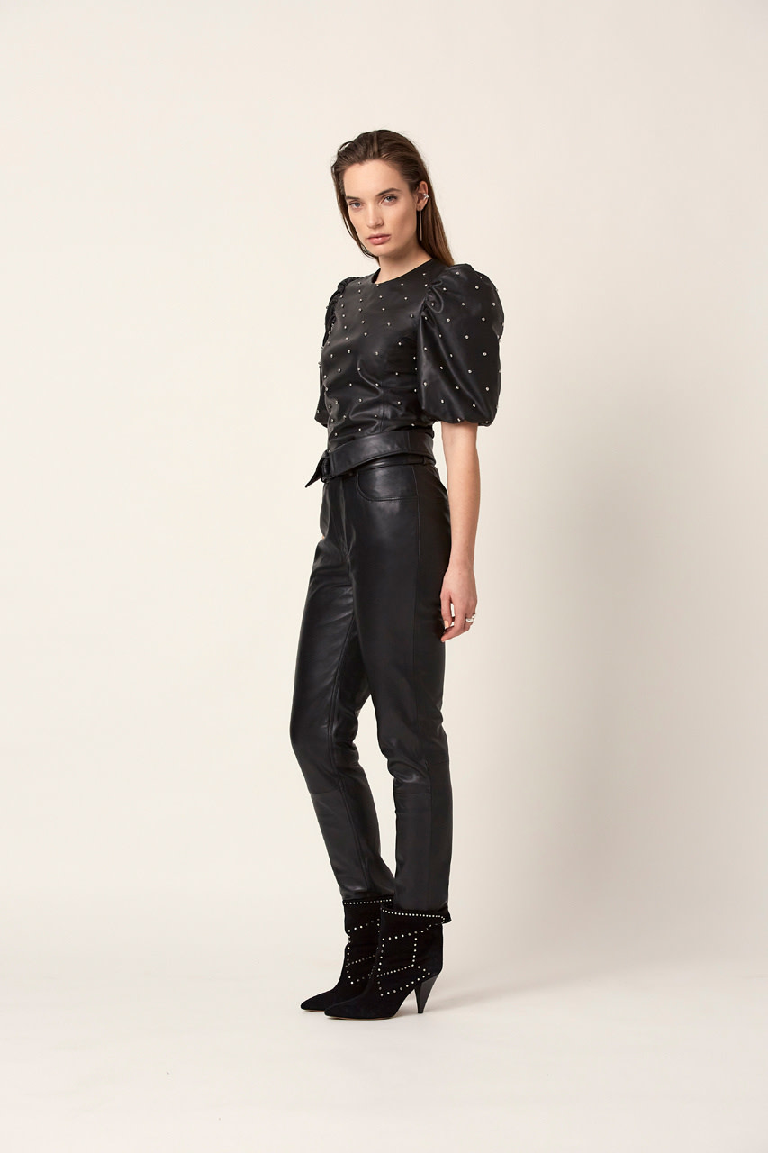 Eclate leather top-4