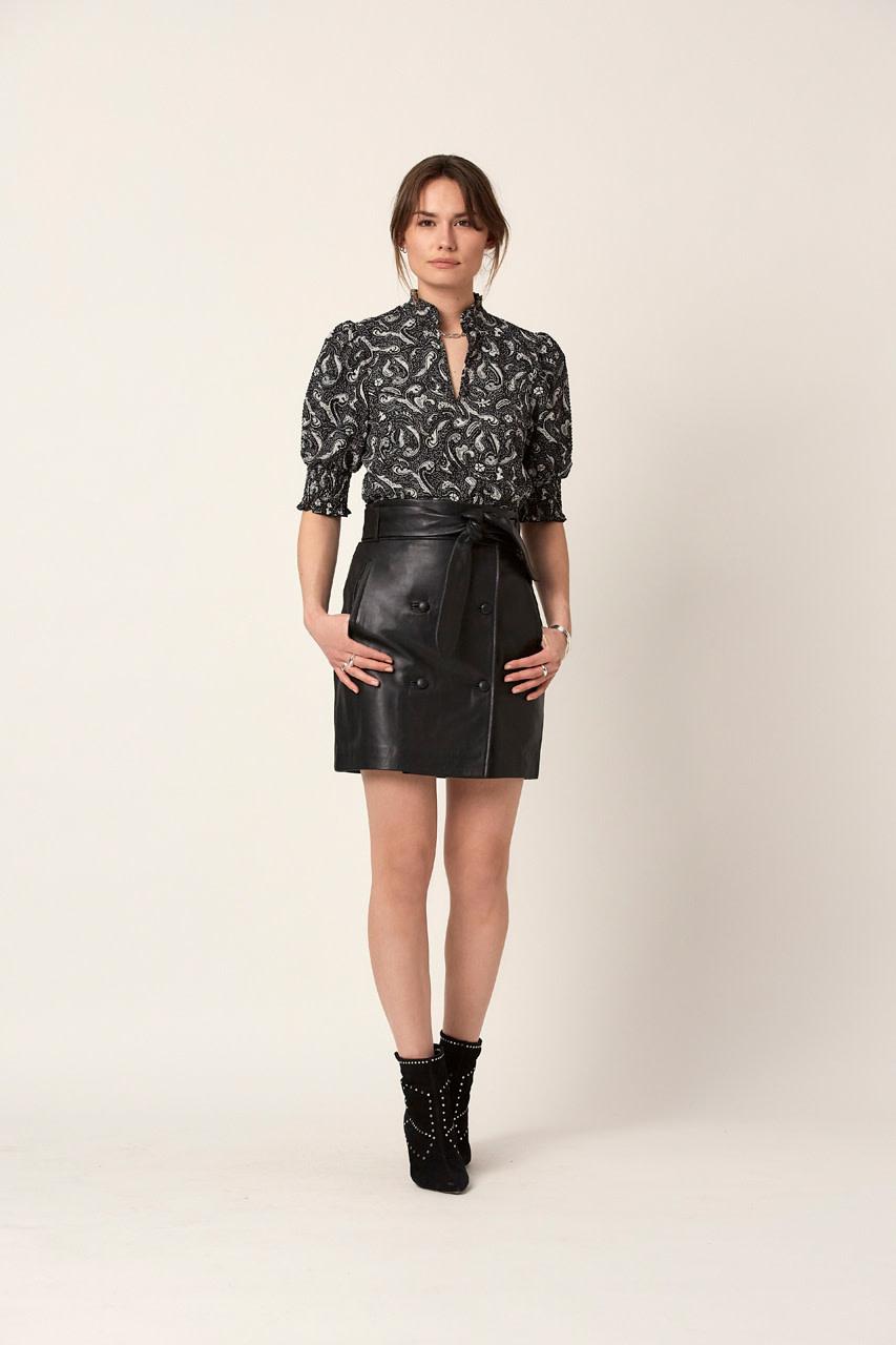 Kathy leather skirt-3