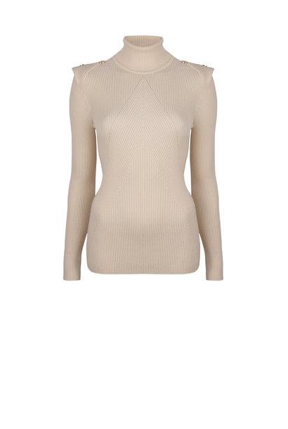 Celia Detail Button sweater Bone
