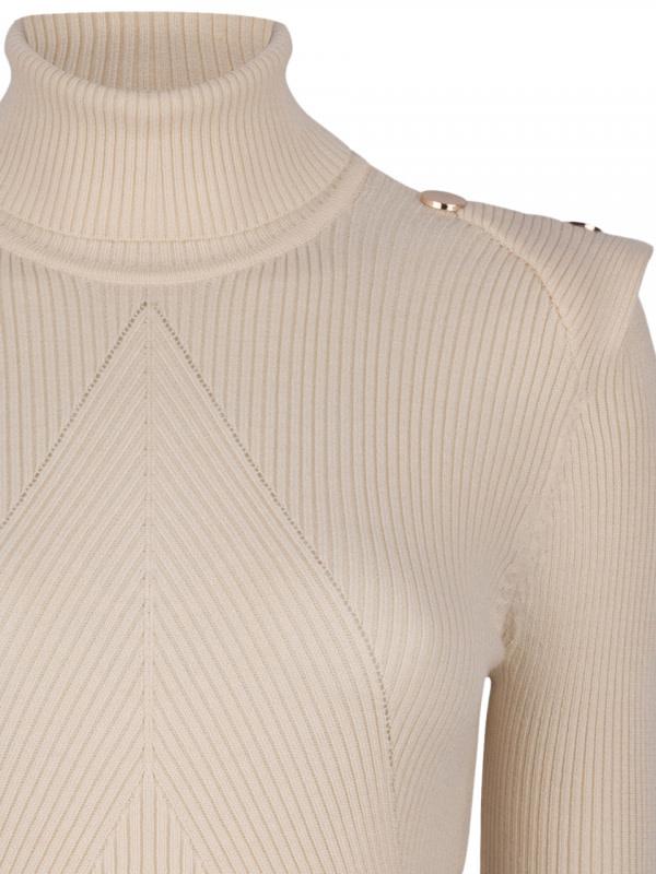 Celia Detail Button sweater Bone-2