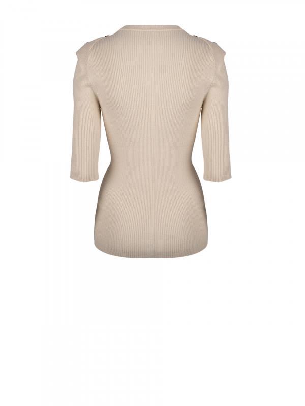 Sephine detail button sweater bone-2