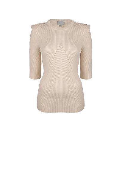 Sephine detail button sweater bone