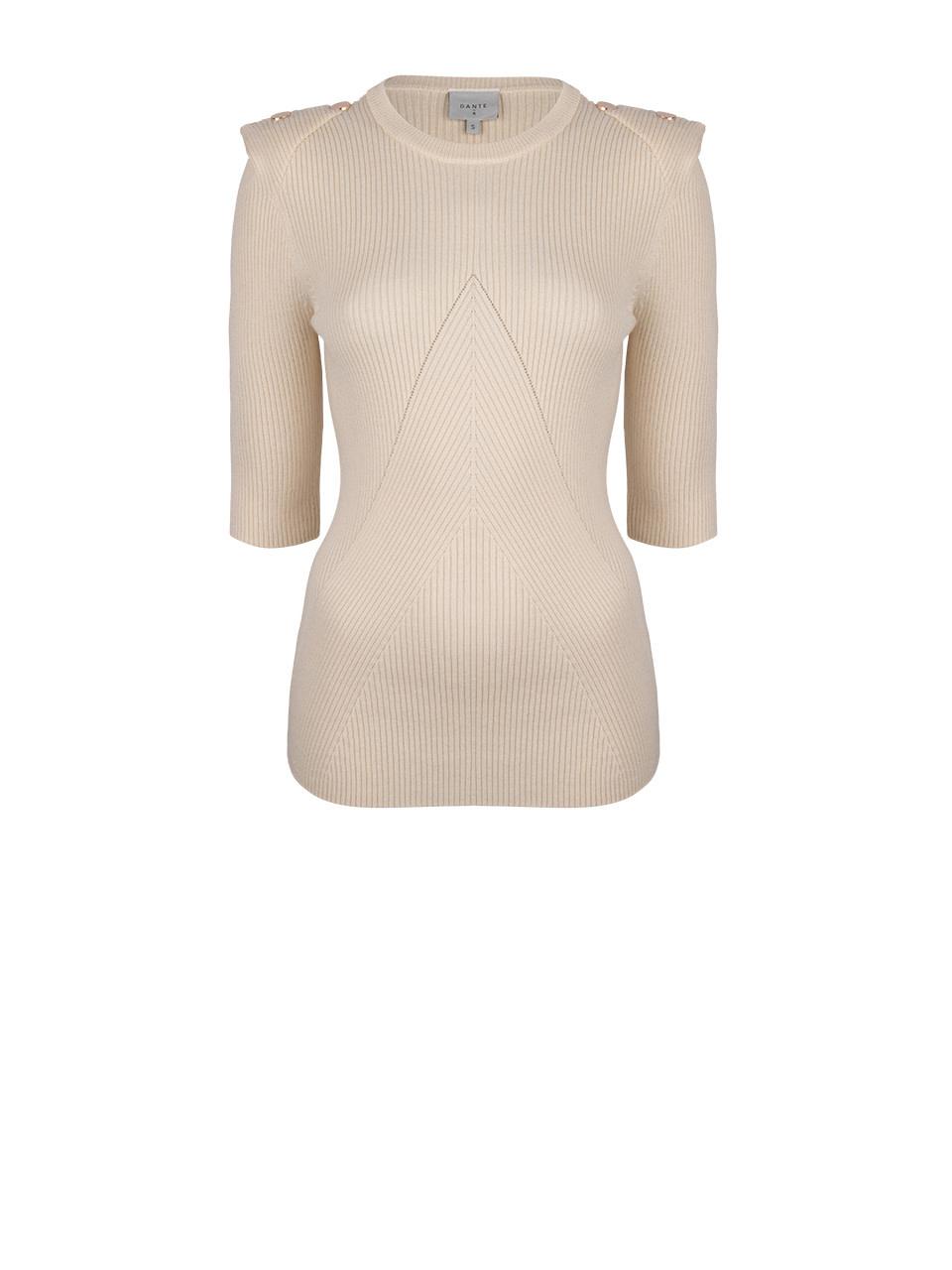 Sephine detail button sweater bone-1