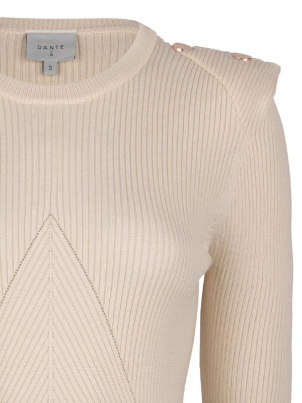Sephine detail button sweater bone-4