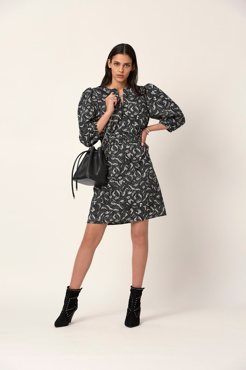 Stevie print dress-1