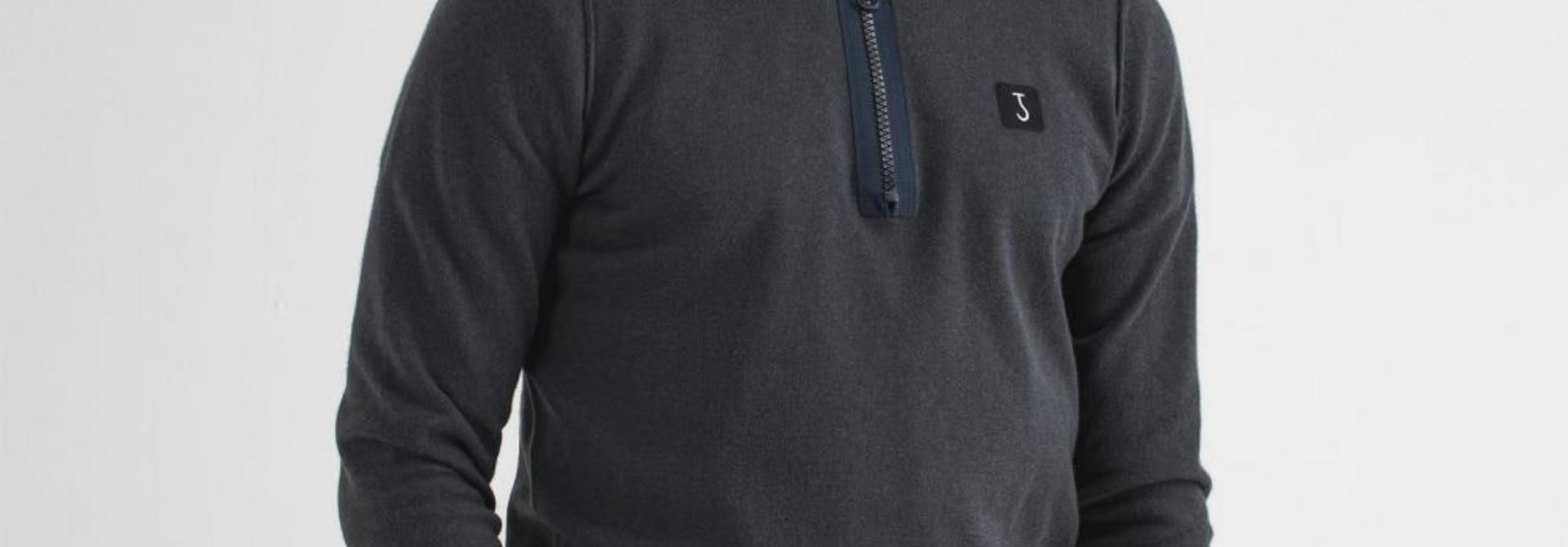 Clifden half zip Blue