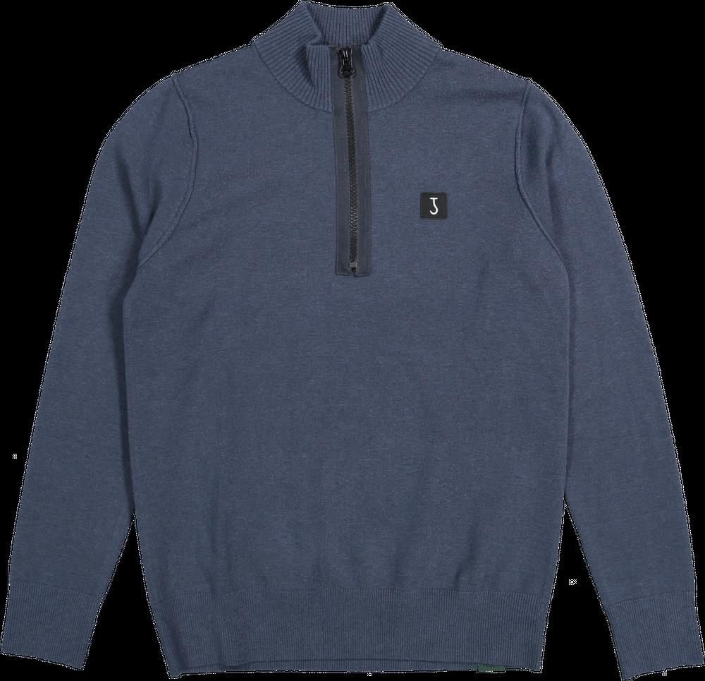 Clifden half zip Blue-3