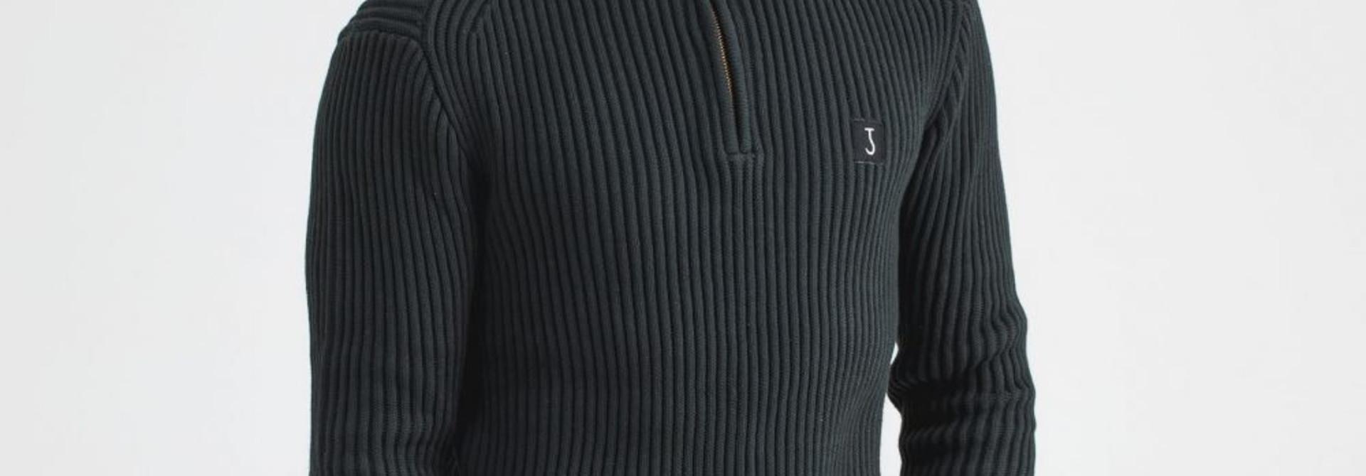 Thin half zip Conda green