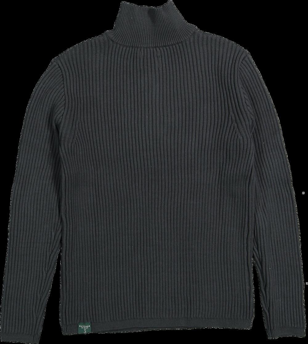 Thin half zip Conda green-3