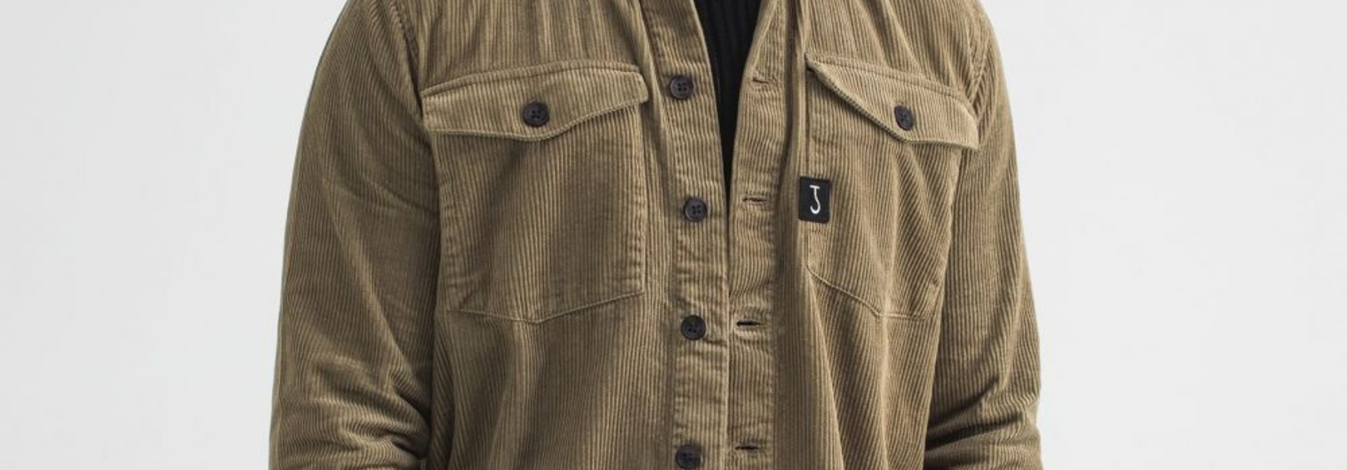 Saturn cord GD overshirt sepia brown