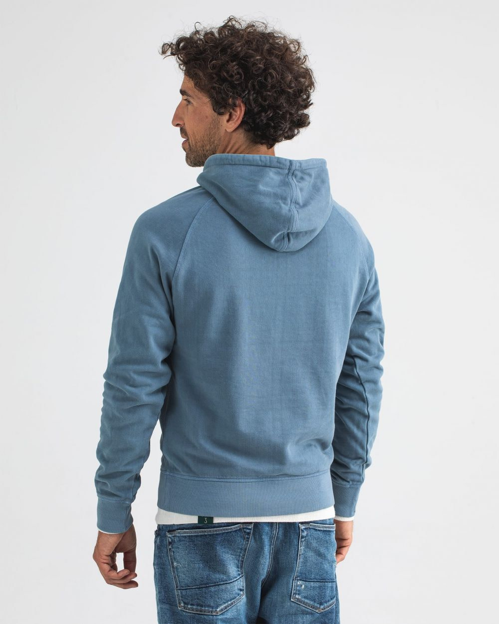 College hooded sweater china grey-2