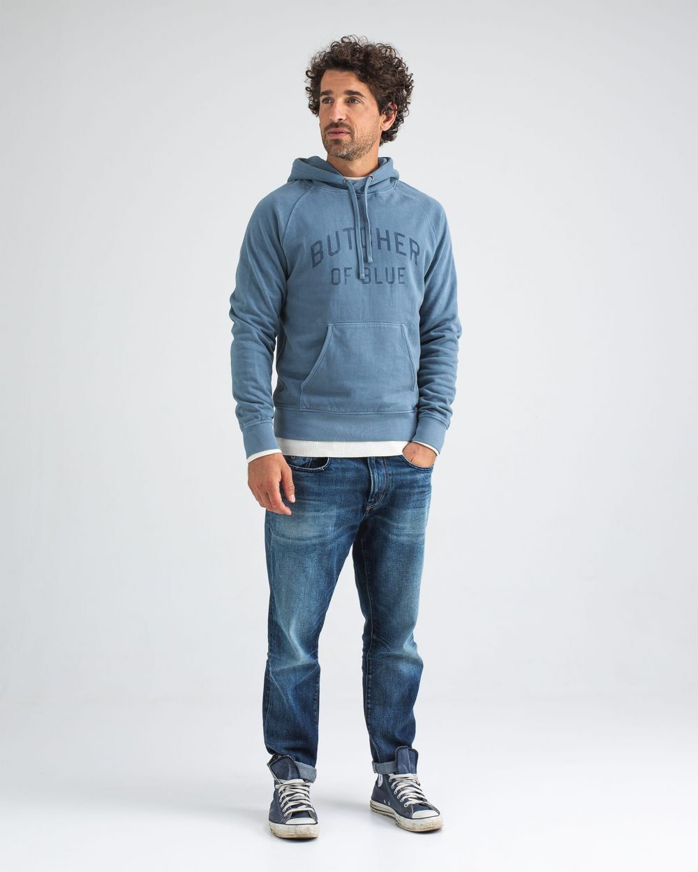 College hooded sweater china grey-3