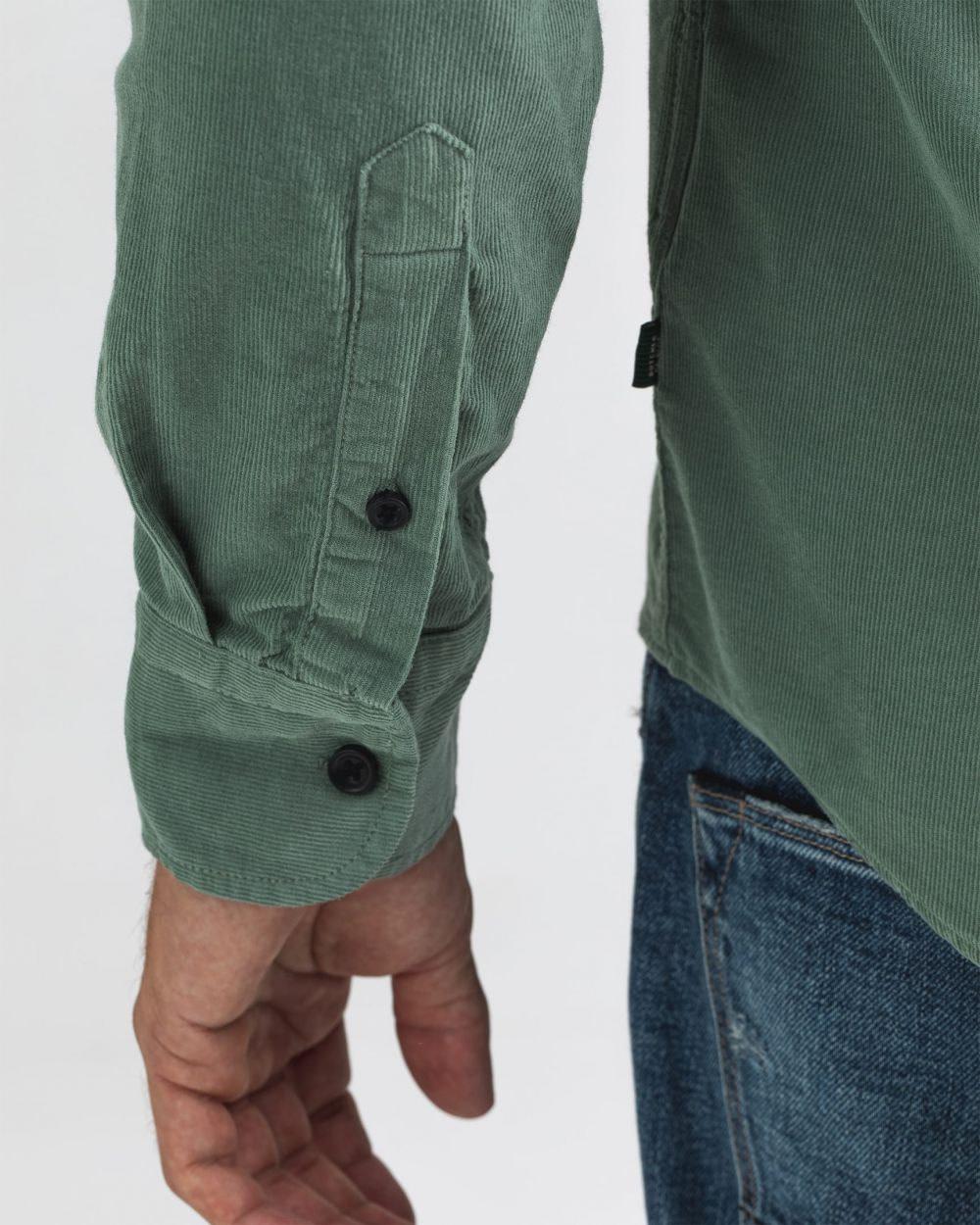 Robbins babycord shirt deplhi green-3