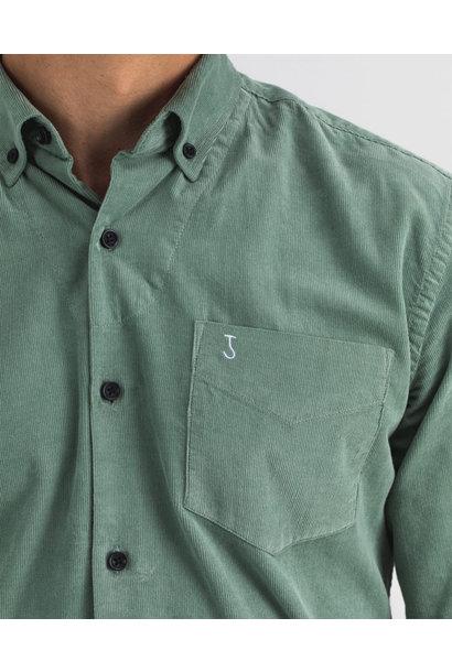 Robbins babycord shirt deplhi green