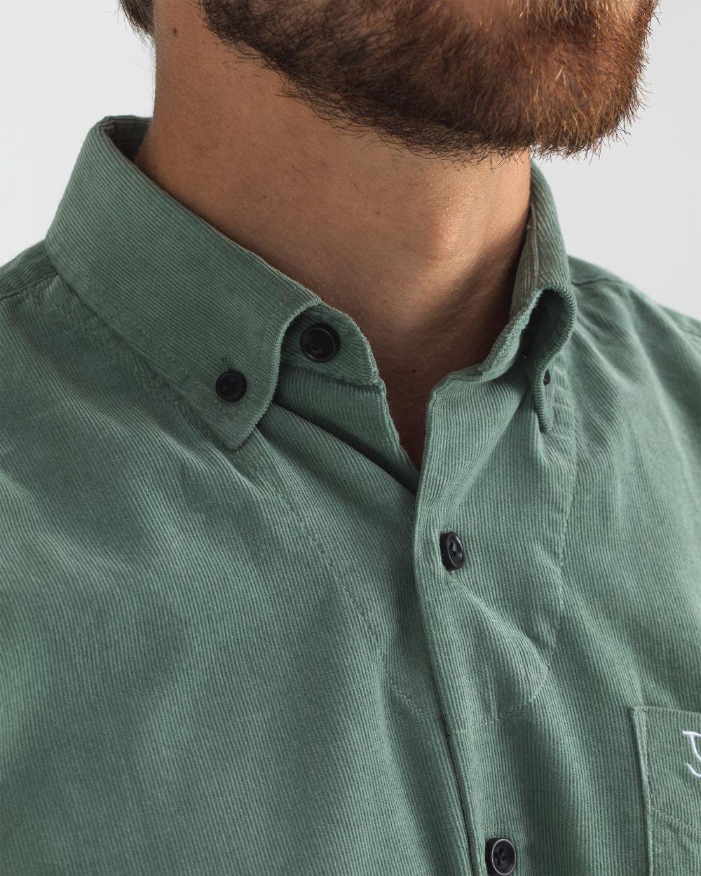 Robbins babycord shirt deplhi green-6