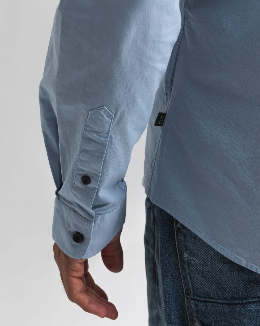 Robbins poplin shirt meissen blue-3