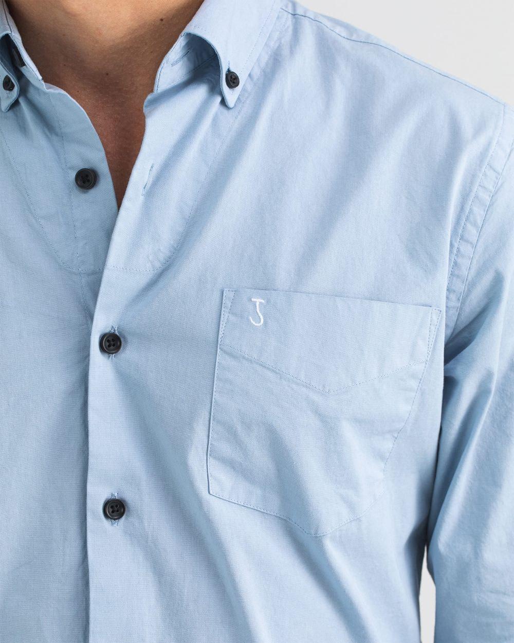 Robbins poplin shirt meissen blue-2