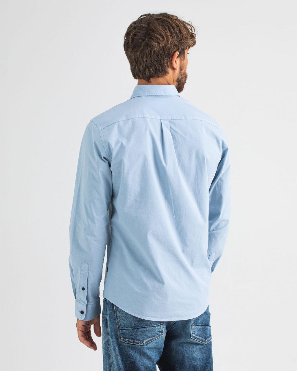 Robbins poplin shirt meissen blue-5