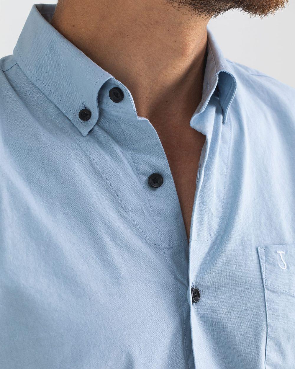 Robbins poplin shirt meissen blue-6