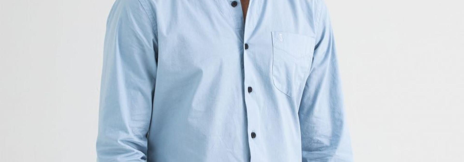 Robbins poplin shirt meissen blue