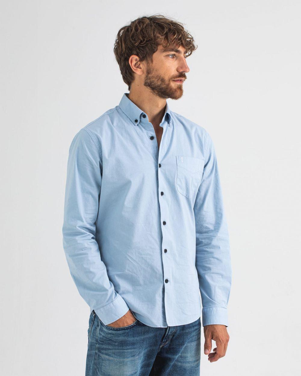 Robbins poplin shirt meissen blue-1