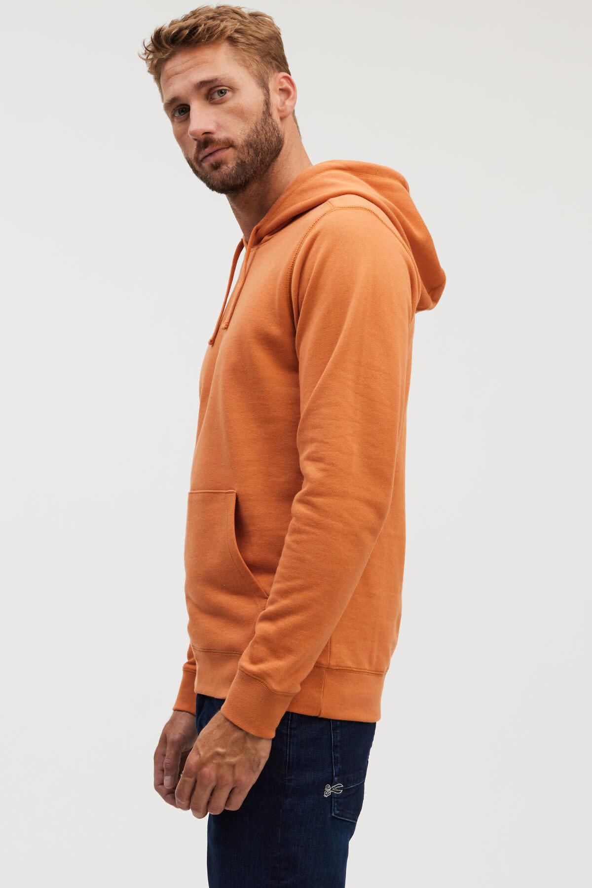 6 o clock  pocket Hoody orange-2