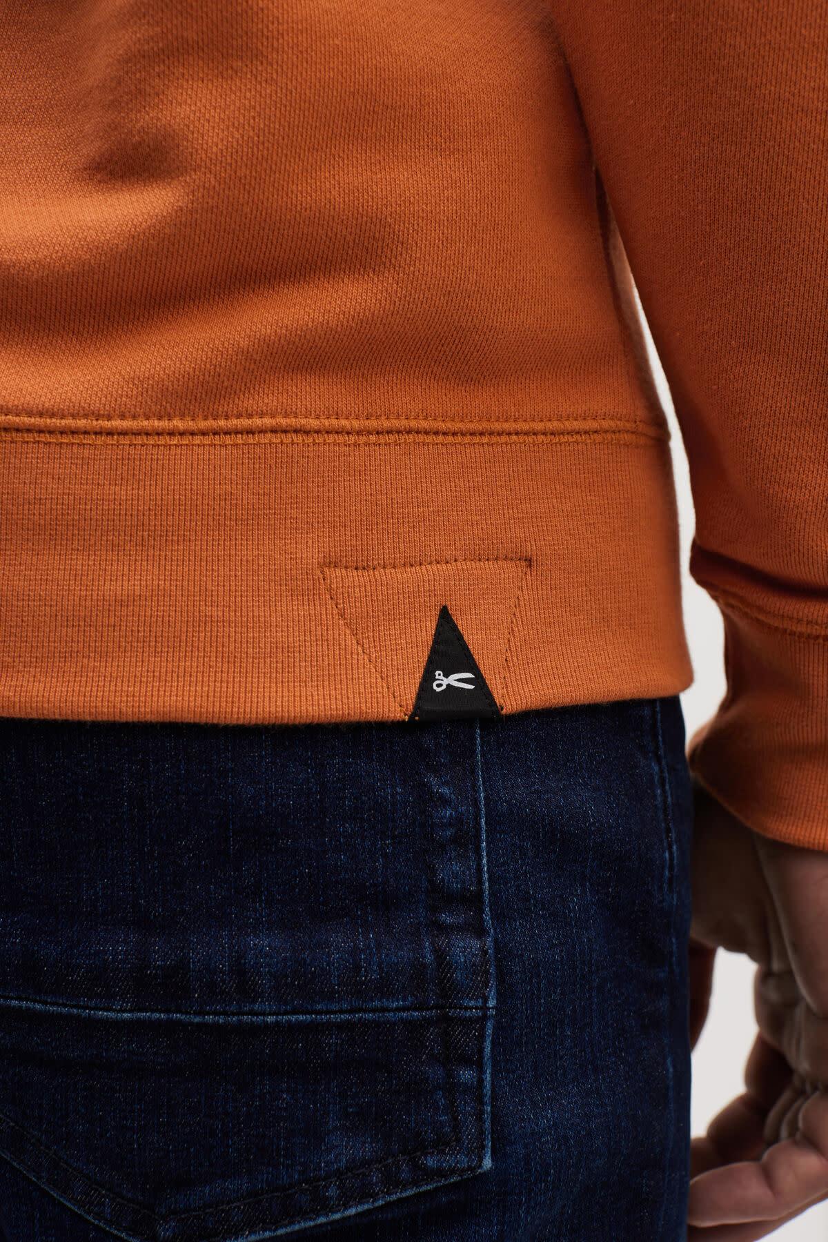 6 o clock  pocket Hoody orange-4
