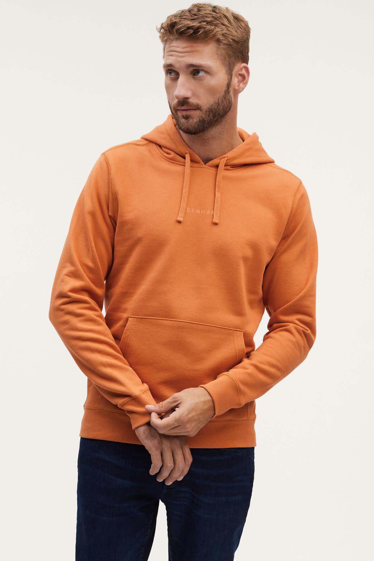 6 o clock  pocket Hoody orange-1