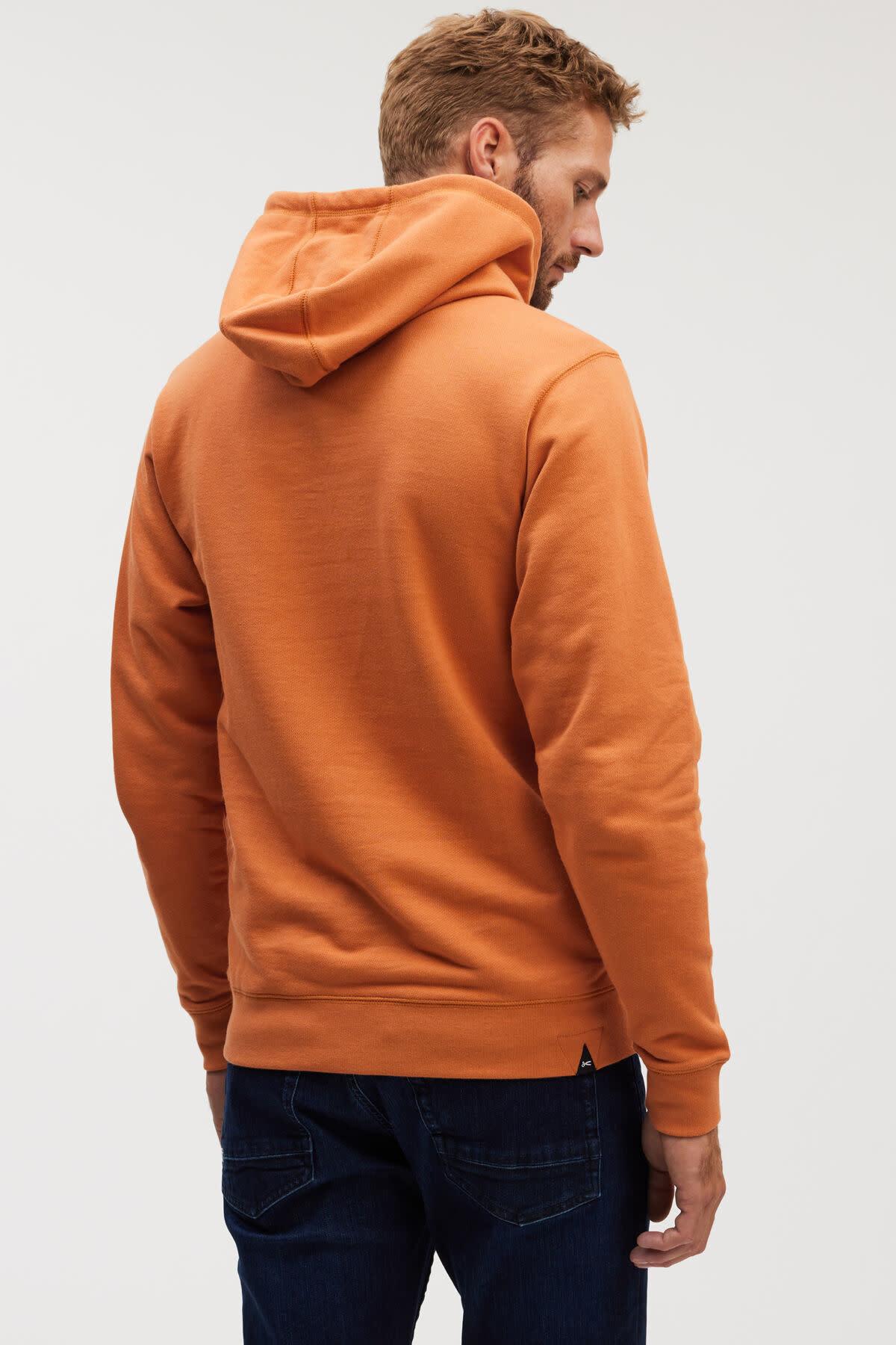 6 o clock  pocket Hoody orange-5