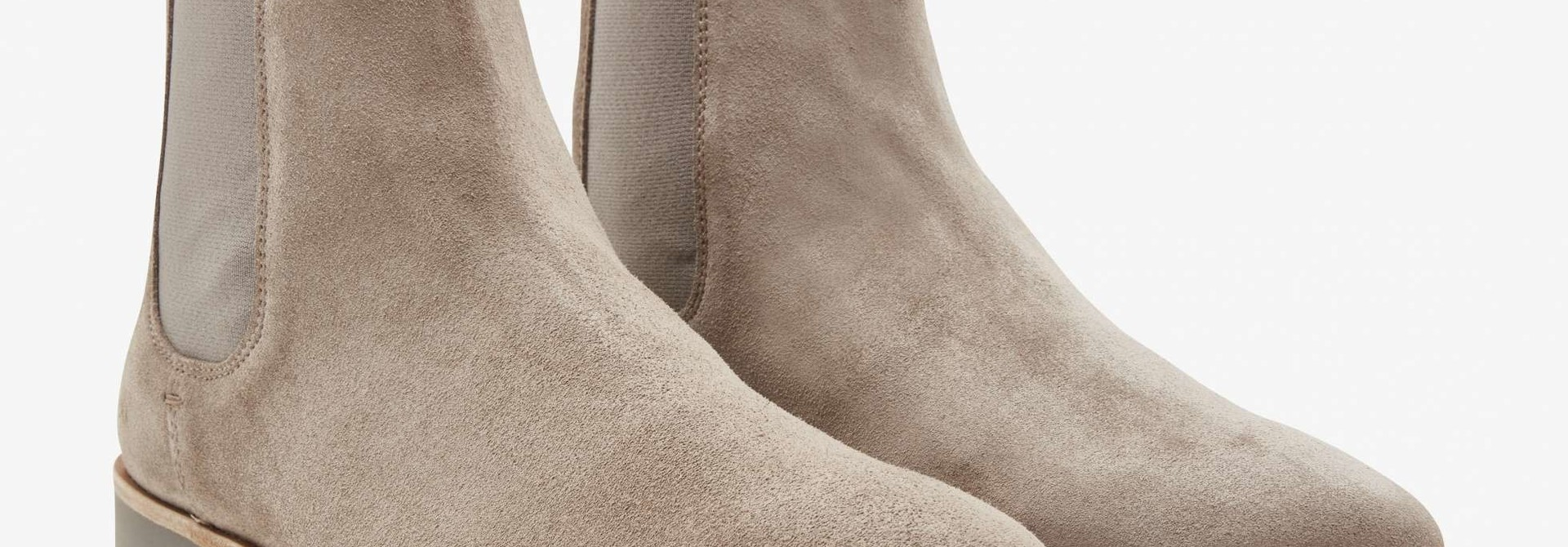 Logan chelsea boot taupe suede