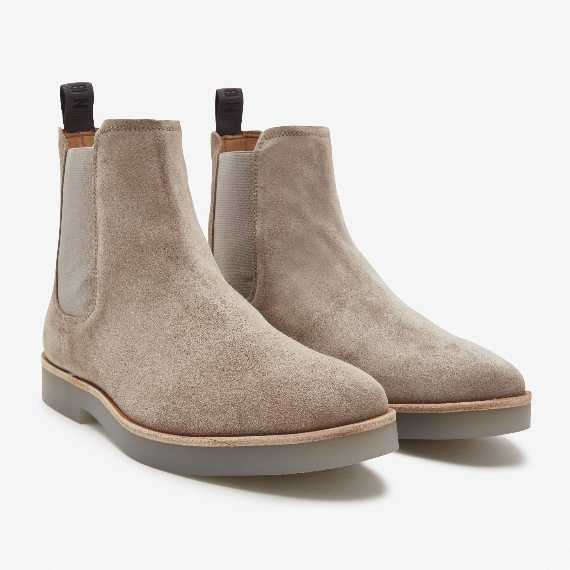 Logan chelsea boot taupe suede-1
