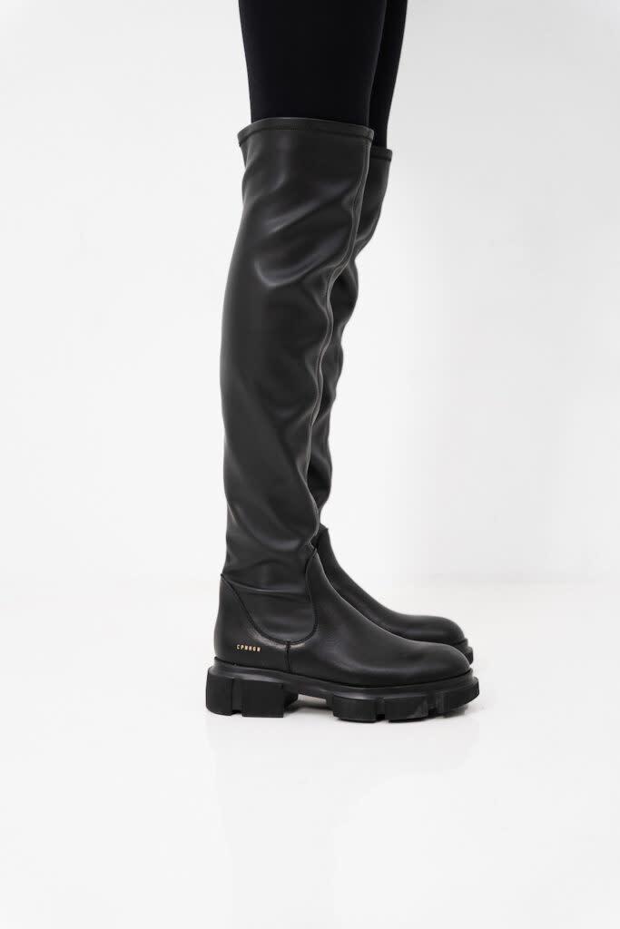CPH544  high boot stretch Black-2