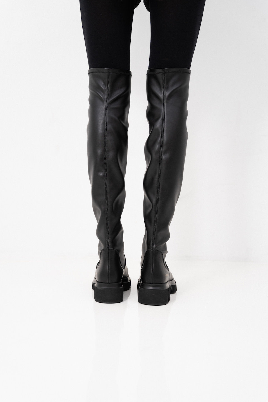 CPH544  high boot stretch Black-4