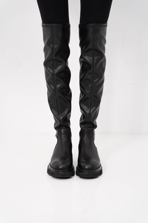CPH544  high boot stretch Black-5