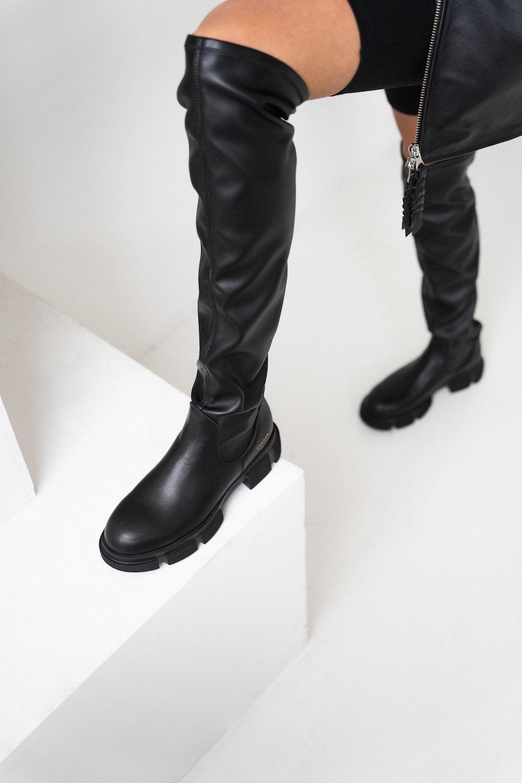 CPH544  high boot stretch Black-6