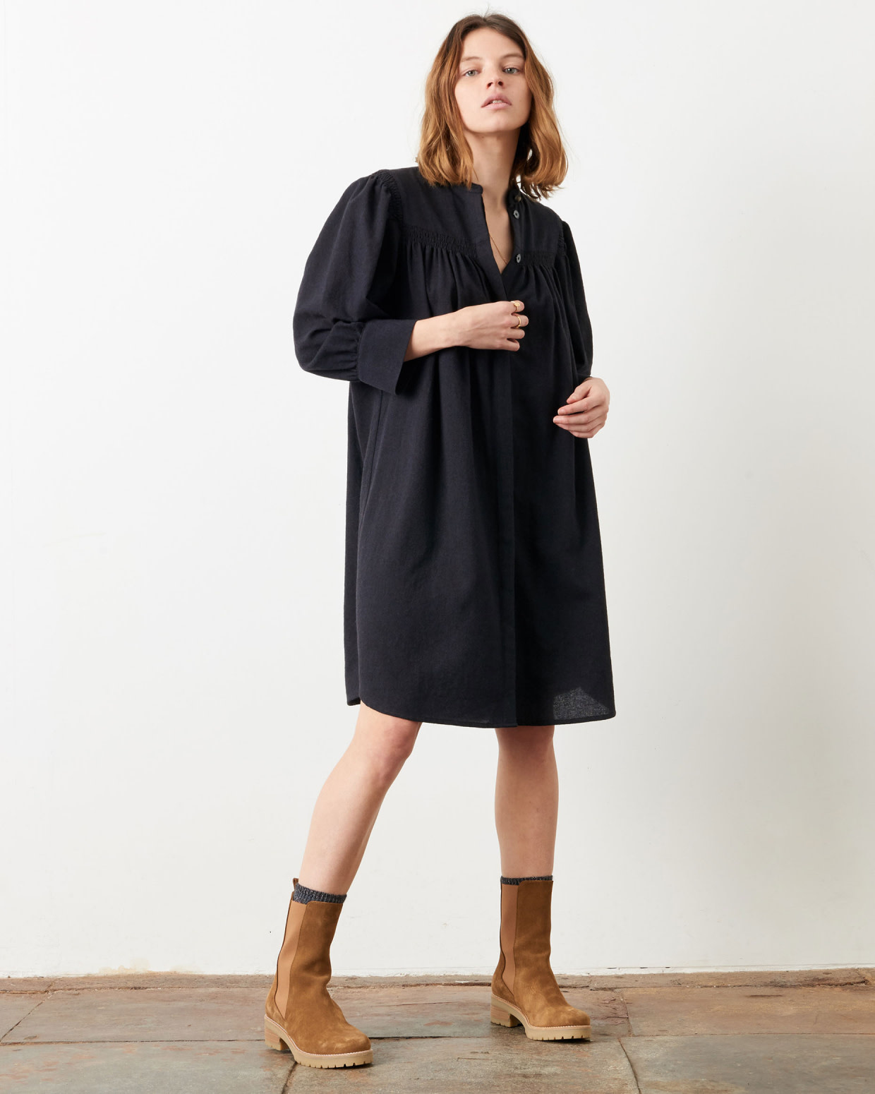 whitney Navybrown Dress-2