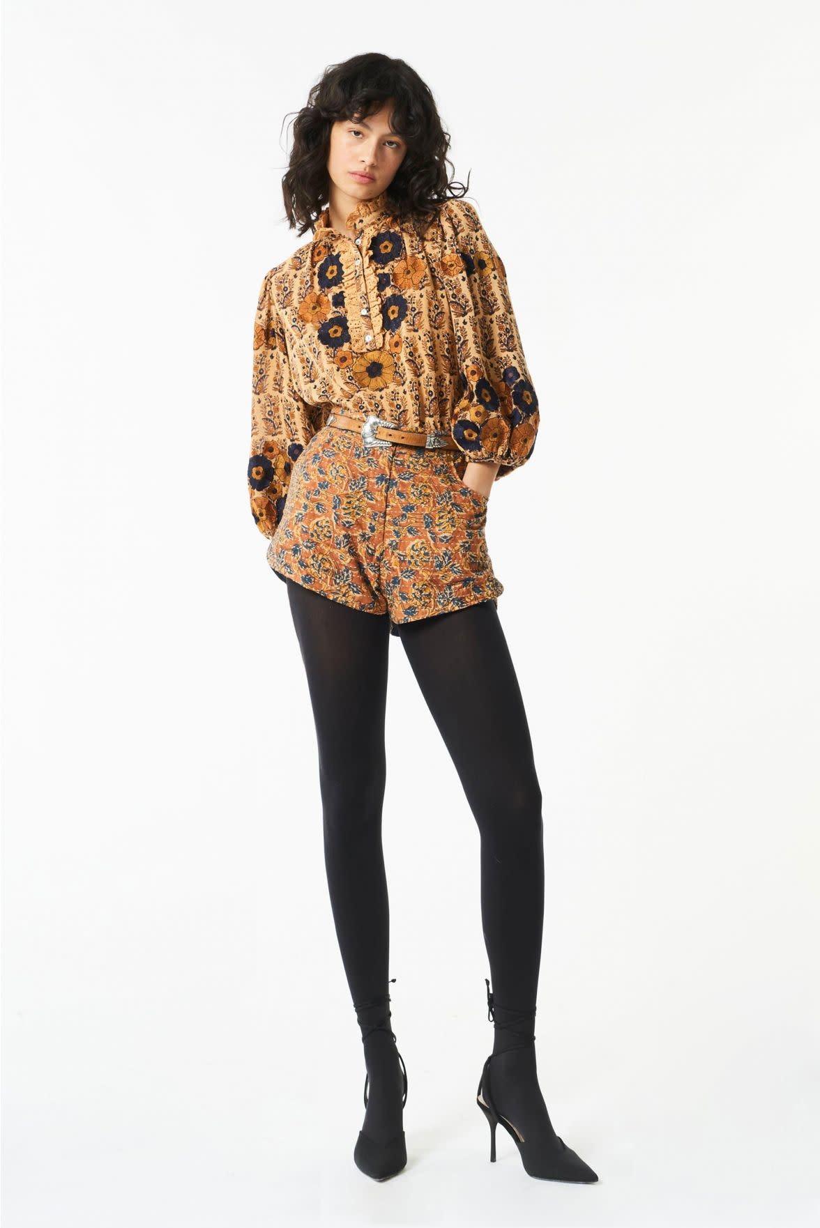 Pauline blouse camel-3