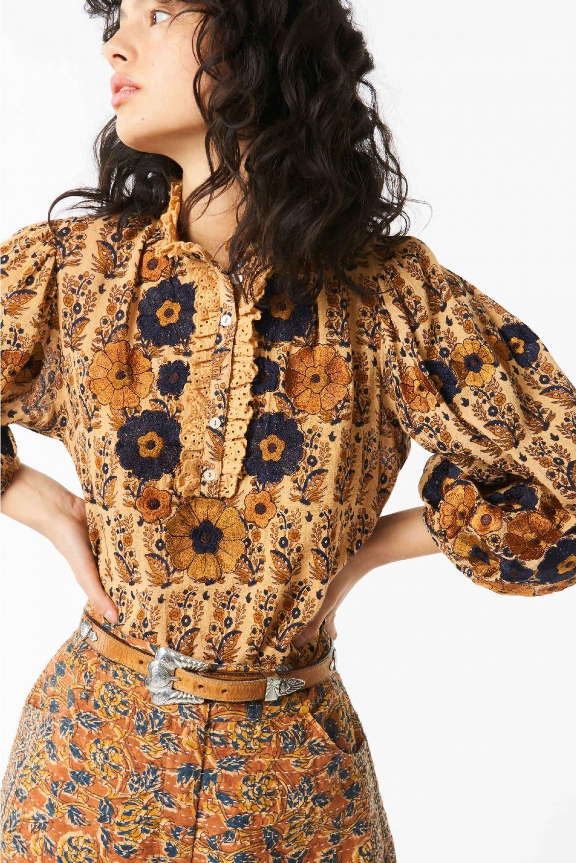 Pauline blouse camel-2