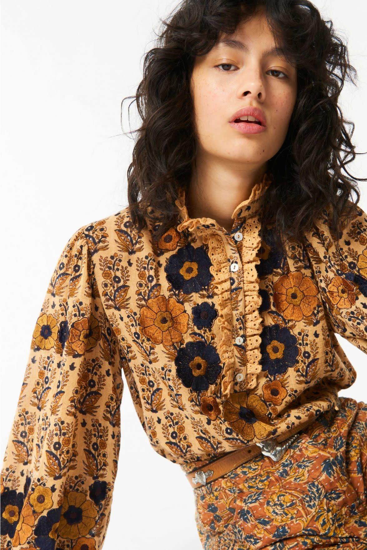 Pauline blouse camel-1