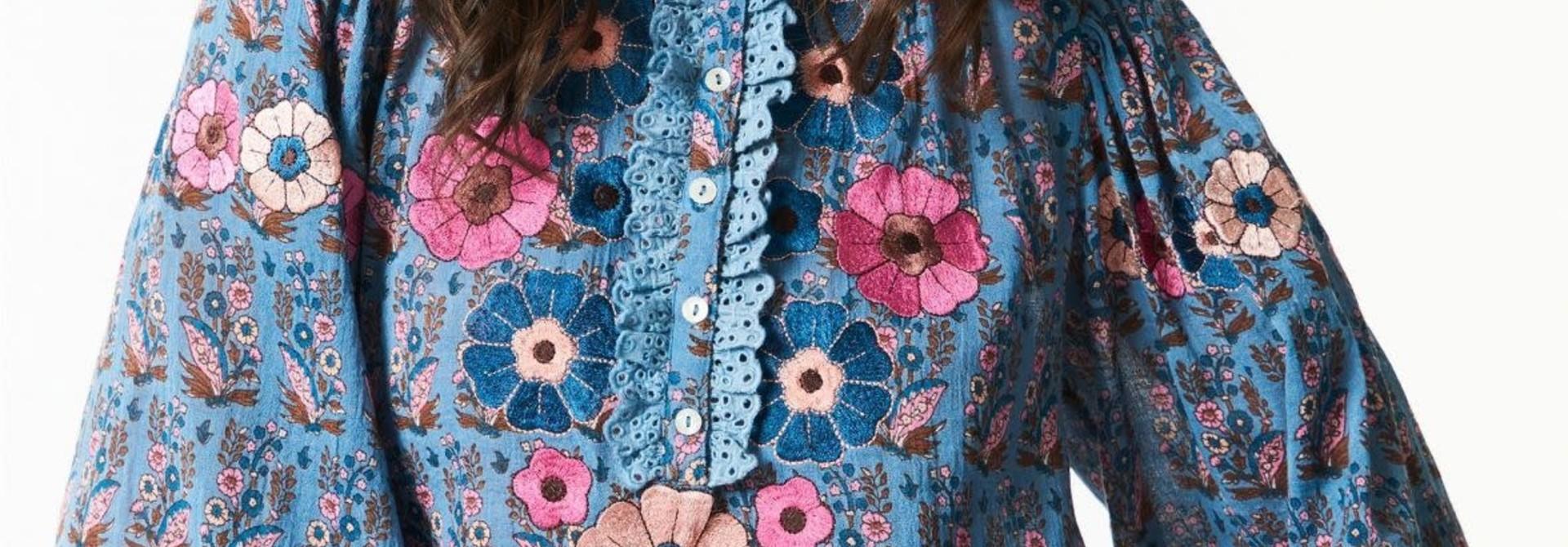 Pauline blouse blue