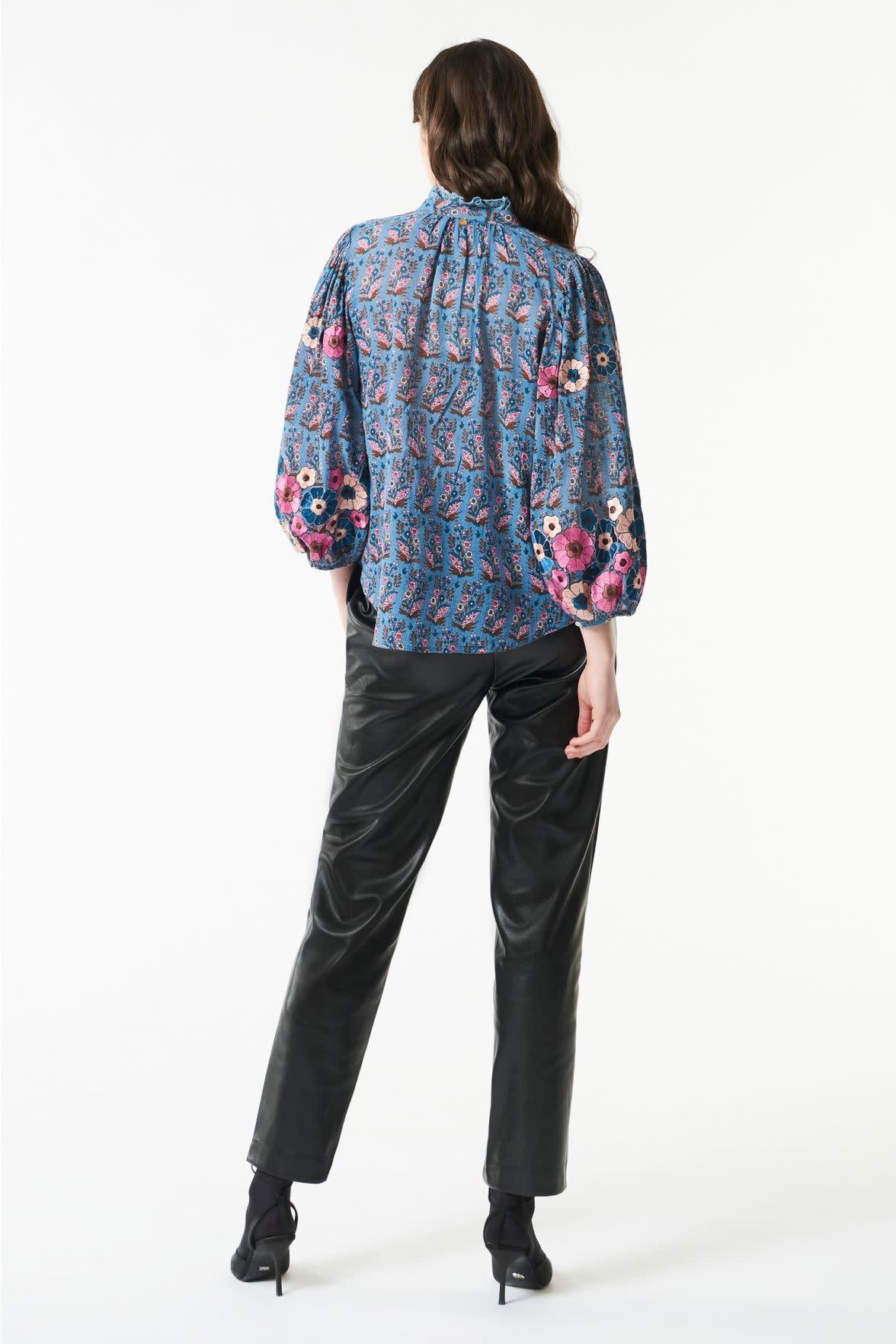 Pauline blouse blue-2