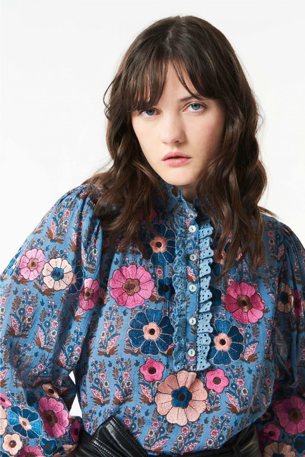 Pauline blouse blue-3