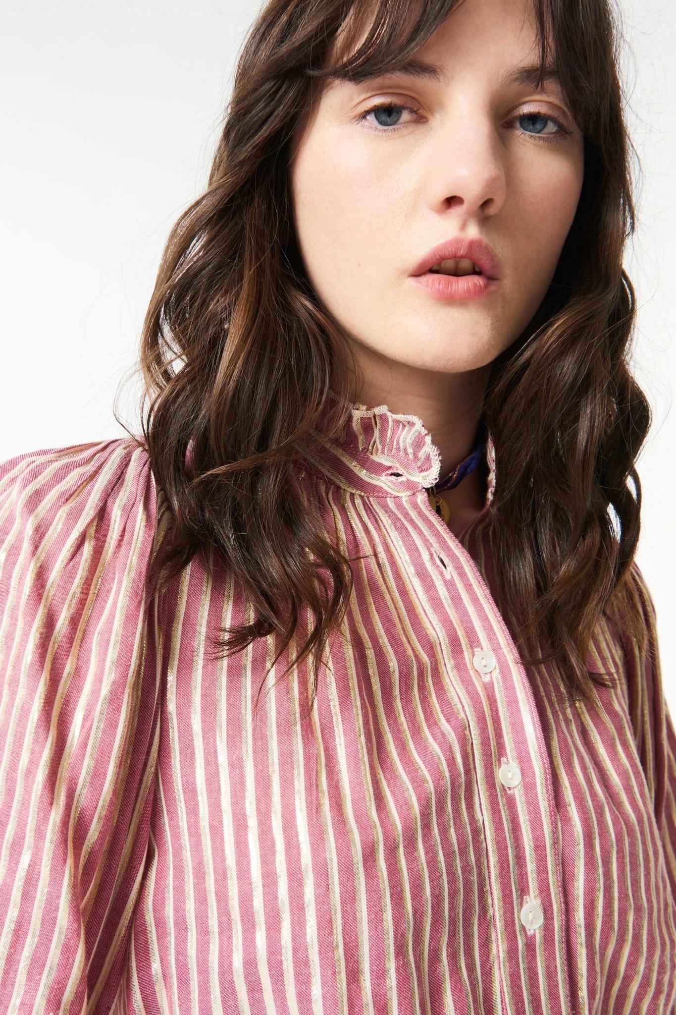 Meela stripes blouse red-4